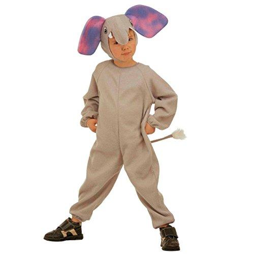 NET TOYS Costume Carnevale Bambini Vestito Elefante Panno Orecchie pachiderma - 110 cm