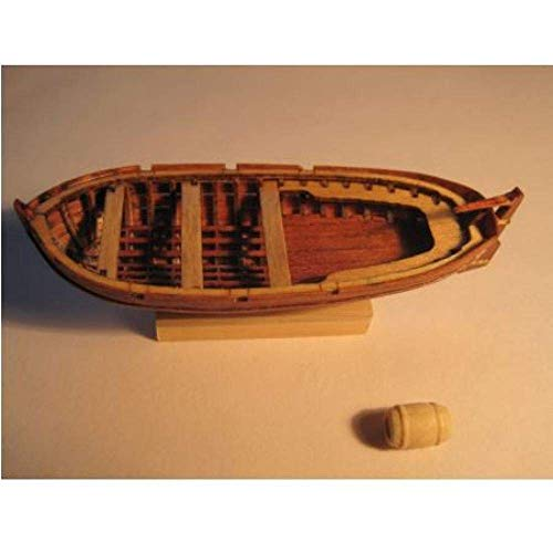 JHSHENGSHI Modelo de Barco de Vela Escala 1/50 Kits de Modelo de Bote Salvavidas de Madera clásico Antiguo El Modelo de Bote Salvavidas Ruso de 120Mm