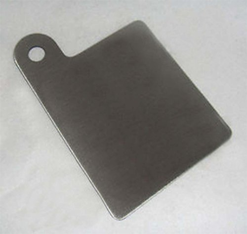 304 Stainless Steel Motorcycle Inspection Sticker Plate 3' X 4.25' Part No. RP0005 MADE IN USA