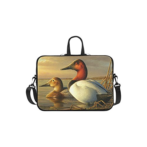 Best Friends/Sisters/Brothers Gifts Presents Cute Mallard Duck Pattern Laptop Notebook Bag Adjustable Shoulder Strap Waterproof Classic Sleeve for Macbook Air 11 inches