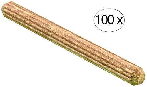 Hettich 9220037 Holzdübel (Dübel) -6 x 60 mm, Buche