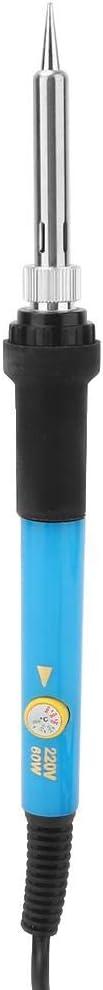 52 Unids Kit de Herramientas de Quema de Madera El/éctrica Juego de Plumas Quemadas de Madera Pyrograf/ía Quemador de Hierro Kit de Soldadura para Cuero de Madera EU Plug 220V Blue