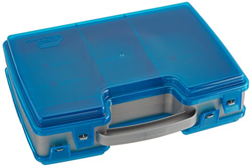 Plano Large 2 Sided Tackle Box, Metallic Gray & Blue, Medium