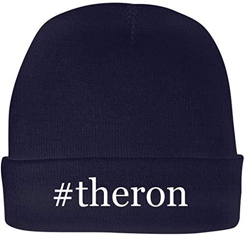Shirt Me Up #Theron - A Nice Hashtag Beanie Cap, Navy, OSFA