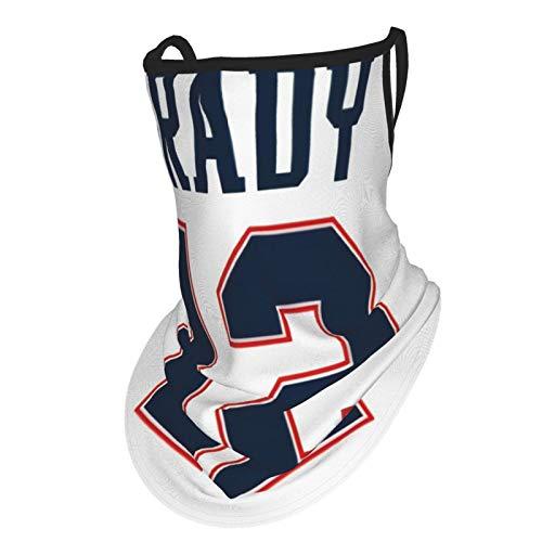 Tom Brady - Bandanas para el cuello, pasamontañas, unisex, sin costuras, con trabillas para las orejas, para la cara, bufanda para motocicleta