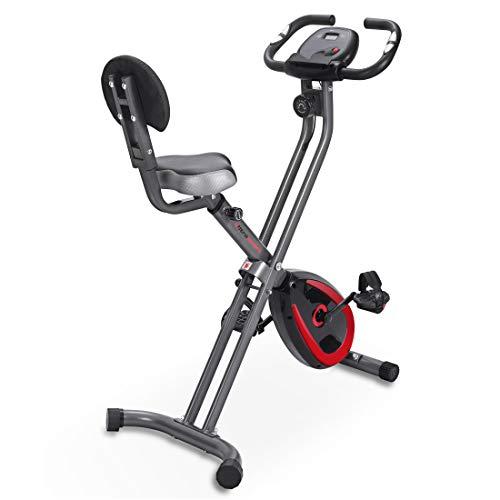 Ultrasport F-Bike 300B, Cyclette Schienale Computer di Allenamento e App Pieghevole Unisex-Adulto, Grigio Scuro/Nero, Taglia Unica