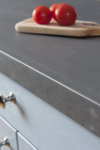WORKTOPEXPRESS Betonoptik - Resopal Küchenarbeitsplatten (3m × 600mm × 38mm)