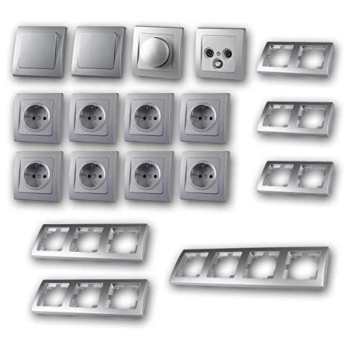 DELPHI Juego de'Regulador LED de sala de estar', 20 piezas, plata