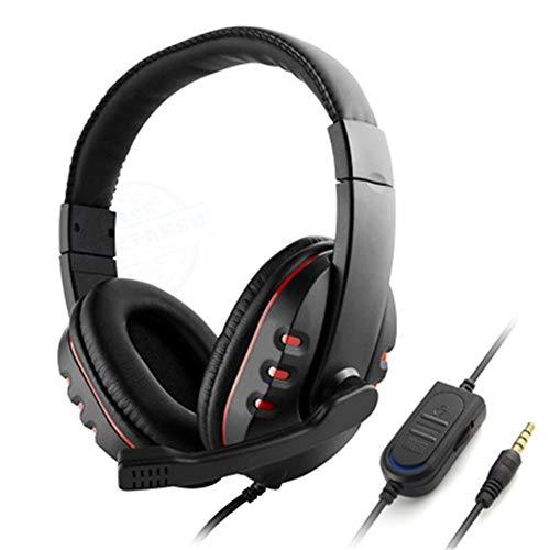 PS4/XBOX-ONE/PC/Kopfhörer Mobile Computer Spiele Subwoofer Kopfhörer ~193g schwarz + rot blankes Metall