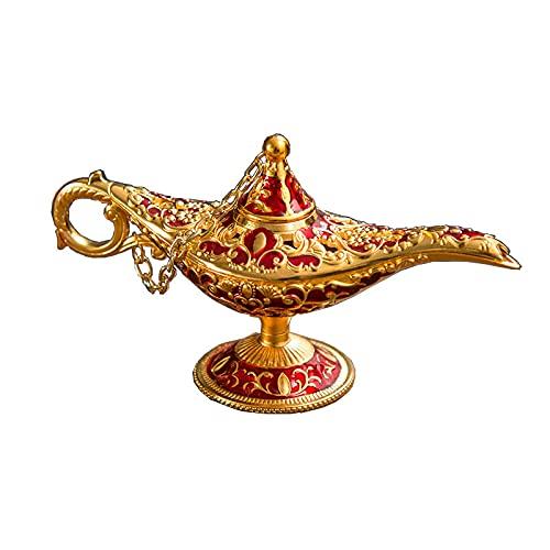 HENGSEN Aladdin Wonder Lámpara lámpara de Aceite, lámpara árabe Genie Lámpara Genie Light for Home Table Decoration Regalo Magic Genie Lamps Inciense Brenner,1