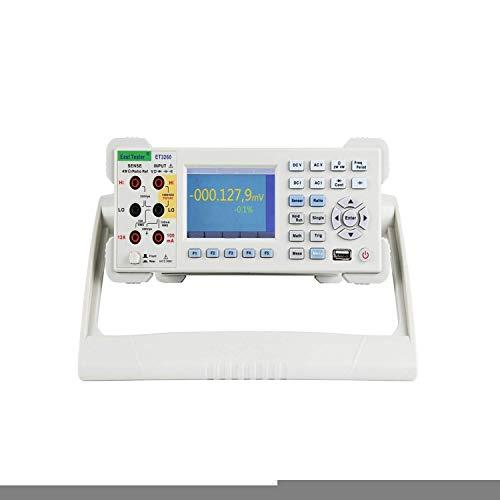 WY-YAN Escritorio Pantalla LCD multímetro digital 6 1/2 bits de precisión Rango automático de la sonda multímetro digital ET3260 Preciso