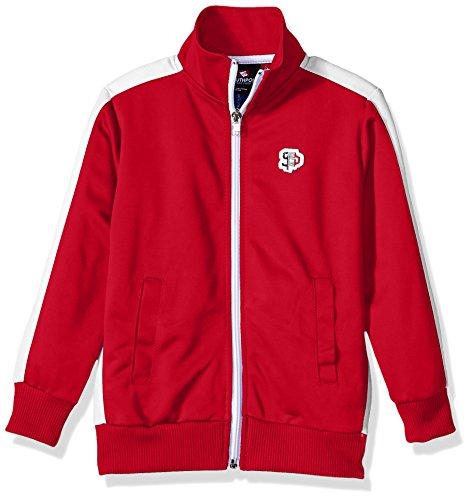 Southpole Boys' Little Full-Zip Athletic Track Jacket, red, Medium