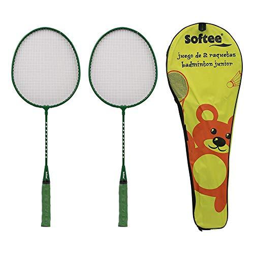 Softee Equipment Juego Dos Raquetas Badminton Junior