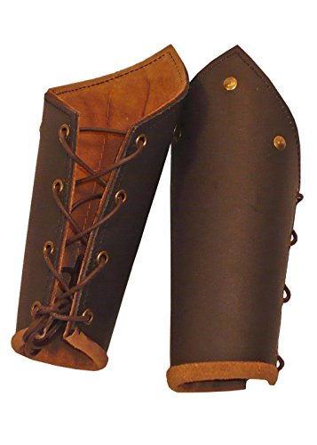Epic Armoury 100451 Ready For Battle Bracers Brauner Unterarmpanzer, Unisex Erwachsene