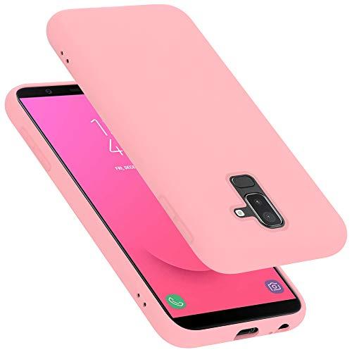 Cadorabo Funda para Samsung Galaxy A6 Plus / J8 en Liquid Rosa - Cubierta Proteccíon de Silicona TPU Delgada e Flexible con Antichoque - Gel Case Cover Carcasa Ligera