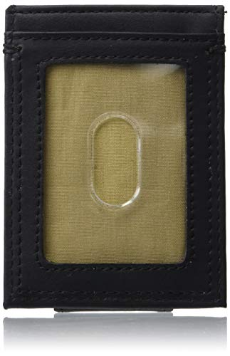 Dockers Front Pocket Billetera, Negro Liso, Talla única para Hombre