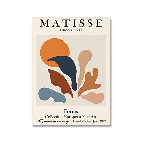 Cartel del sol de la flor de Matisse,pintura abstracta moderna,carteles e impresiones de plantas tropicales,lienzo moderno sin marco,pintura B 30x40cm