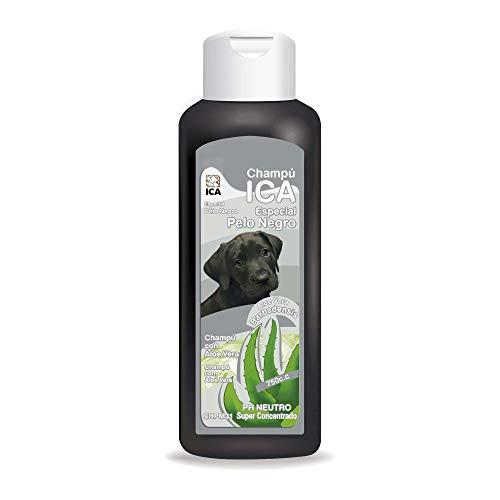 ICA CHPM31 Champú Especial Pelo Negro con Aloe Vera para Perros