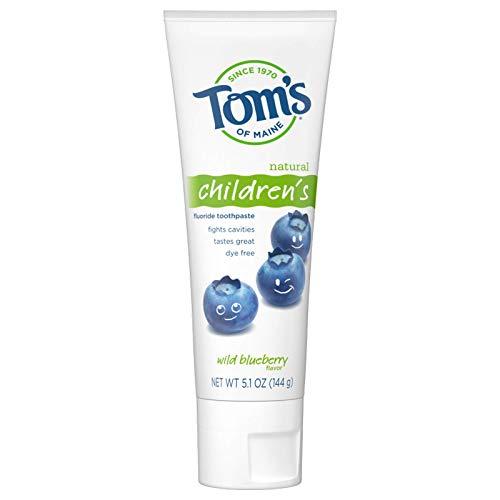 Tom's of Maine - Children's Fluoride Toothpaste Wild Blueberry - 5.1 oz.
