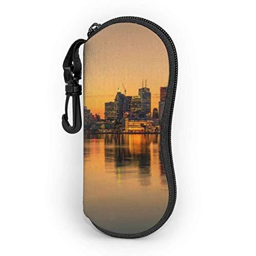 GOSMAO Funda Gafas Paisaje de Toronto Neopreno Estuche Ligero con Cremallera Suave Gafas Almacenaje