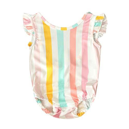 Luoluoluo Baby meisjes badpak eendelig badpak badmode regenboog strandkleding rompers ruche tankini voor 6 maanden tot 4 jaar