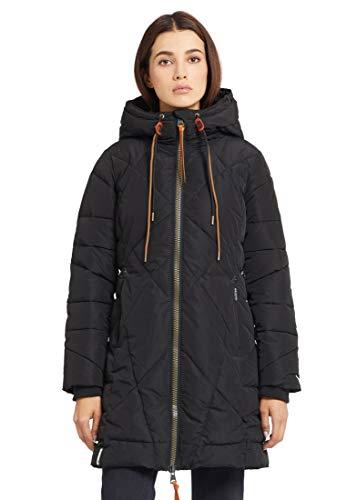 Khujo Daniella Mujer Abrigo de Invierno Negro, ,