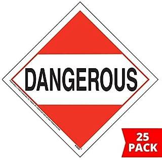 Dangerous Placard, Worded 25-pk. - 10.75