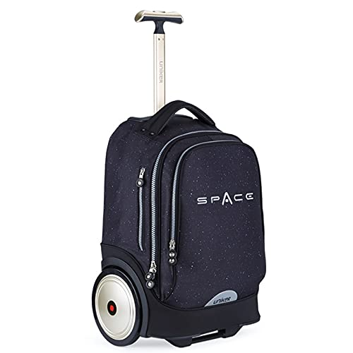 Rolling Laptop Bag Fit 17 Inch Laptop 20 Inch Roller Bag for men Wheeled Computer Bag for Travel Wheeled BookBag College Trolley Luggage Suitcase Space Schoolbag with Wheels Dark Blue underseat carry on luggage for Plane roller bookbag boy Wheeled Travel Bag backpack with wheels