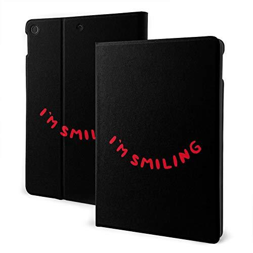Funda para iPad 8/7 (10.2 pulgadas, modelo 2020/2019, 8ª/7ª generación), iPad Air3 y Pro 10.5 pulgadas, diseño con texto en inglés 'I Am Smiling'.