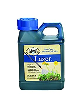 Liquid Harvest Lazer Blue Concentrated Spray Pattern Indicator 8 Ounces Perfect Weed Spray Dye Herbicide Dye Fertilizer Marking Dye Turf Mark and Blue Herbicide Marker