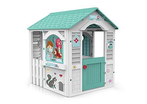 Chicos Centro Casita Infantil de Exterior. Incluye 11 Accesorios de Veterinario. A Partir de 24 Meses, Color Blanca y Turquesa (89619)