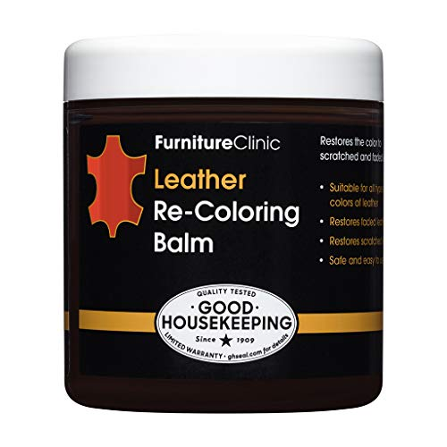 Furniture Clinic Leather Recolouring Balm - Leather Color Restorer for Furniture, Leather Color Repair for Faded & Scratched Sofas, Cars, Shoes and Clothing - 21 Colors for Leather Upholstery (Red)