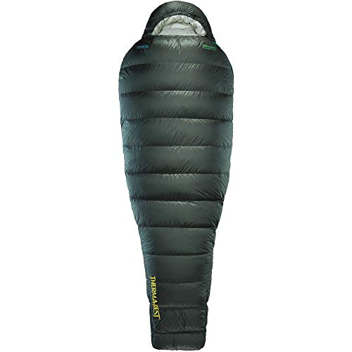 Therm-a-Rest Hyperion 32-Degree Ultralight Down Mummy Sleeping Bag, Regular , Black Forest
