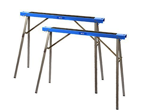 HICO 2-Pack Sawhorse Folding Metal Stands Mobile Bases Brackets Heavy...