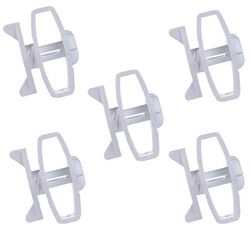 Tensores para cercado eléctrico de trinquete, 5 piezas, gemas, para cable conductor...