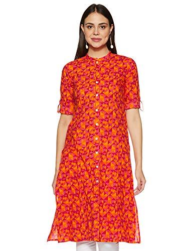 Amazon Brand – Myx Women's Cotton Regular Kurti