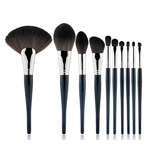 Pinceau Maquillage Kit, Acevery 10pcs Premium Cosmetic Brushes, pour Foundation Blending Blush Concealer Eye Shadow Eyebrow, Synthetic Fiber Outils Maquillage
