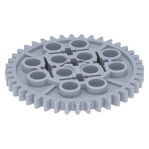5 x LEGO® Technik, Zahnrad 40 Zähne Hellgrau (Neugrau)