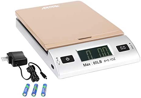Acteck A CK65GS 65LBx0 1OZ Digital Shipping Postal Scale with Batteries and AC Adapter Gold product image