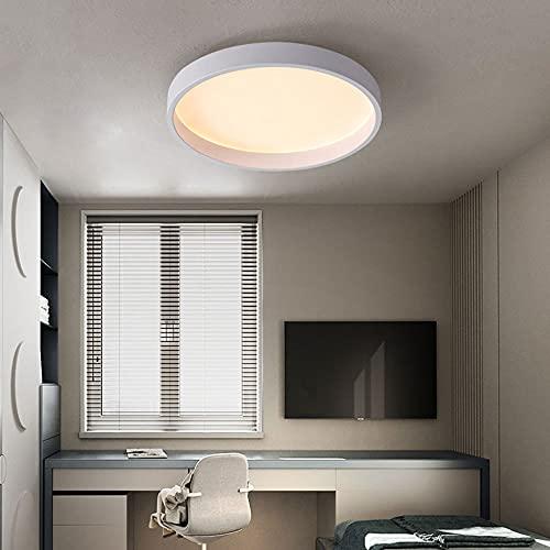 SHUANGZ Lámpara Plana LED De Hierro Forjado Minimalista Moderno Lámpara De Techo Redonda Accesorio De Iluminación De Montaje Empotrado Que Ahorra Energía Accesorio De Iluminación Fácil De Instalar