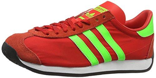 adidas Country OG, Zapatillas Unisex Adulto, Rojo (Red/Solar Green/Vintage White S15-St), 43 1/3 EU