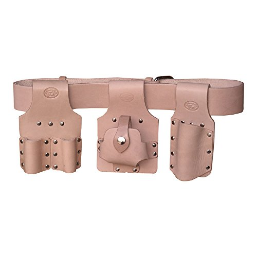 Scaffolding Tool Belt Set 4pc – Premium Tan Leather – Made in UK – Connell of Sheffield