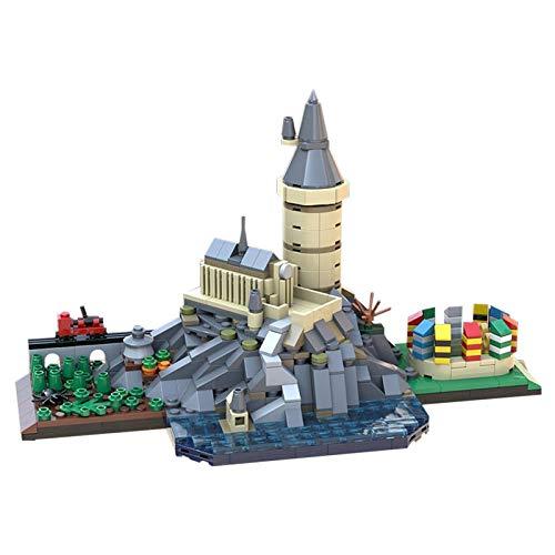 ZHAOGUO Mágico castillo skyline modelo kit de montaje de la ciudad castillo bloque de construcción modelo de construcción de juguete hobby niños DIY bloque rompecabezas