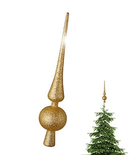 TK Gruppe Timo Klingler Gold Christbaumspitze Baumspitze Spitze Aufstecker für Tannenbaum Tannenbaumspitze Weihnachtsbaum Weihnachten (Gold)
