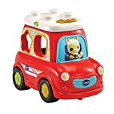 VTech-Mi Coche De Figuras. Vehículo Interactivo con encajables bebé +12 Meses, Color (3480-537422)
