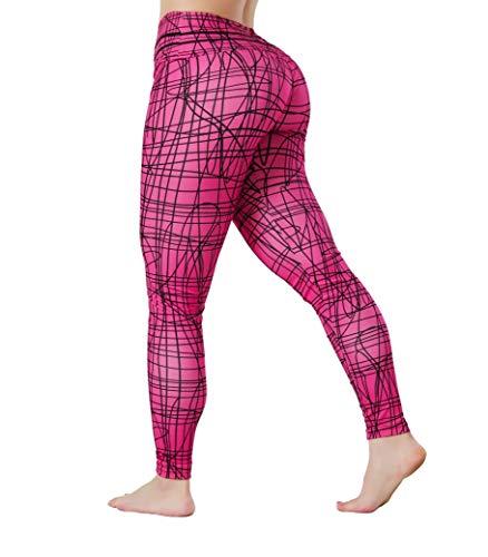 Luxury Design Womens Leggings Honeycomb high Waist Gym Leggings Womens High Waisted Gym Leggings and Leggings Womens Butt Lift with Womens Leggings Yoga Pants Style for Gym Cycling Yoga Pink