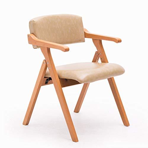 Vimelo eetkamerstoel massief hout vouwstoel moderne minimalistische met armleuningen thuis eettafel en stoelen vouwkruk PU rode eik