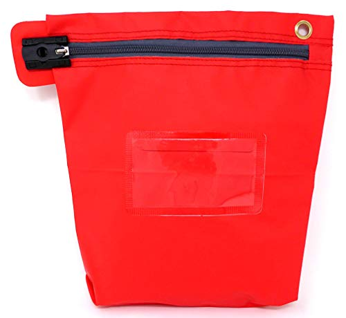 Bolsa Valija con Cierre de Seguridad para Efectivo (27 x 30 cm) Roja