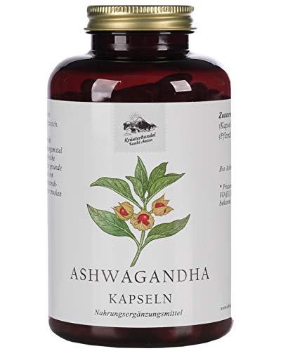KRÄUTERHANDEL SANKT ANTON® Ashwagandha Kapseln - 650mg Bio Ashwagandha Extrakt - Hochdosiert - Vegan, Laktose- und Glutenfrei- Deutsche Premium-Qualität (240 Kapseln)