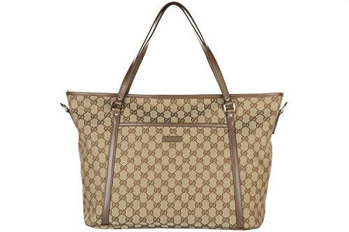 Gucci borsa donna a spalla shopping nuova originale marrone